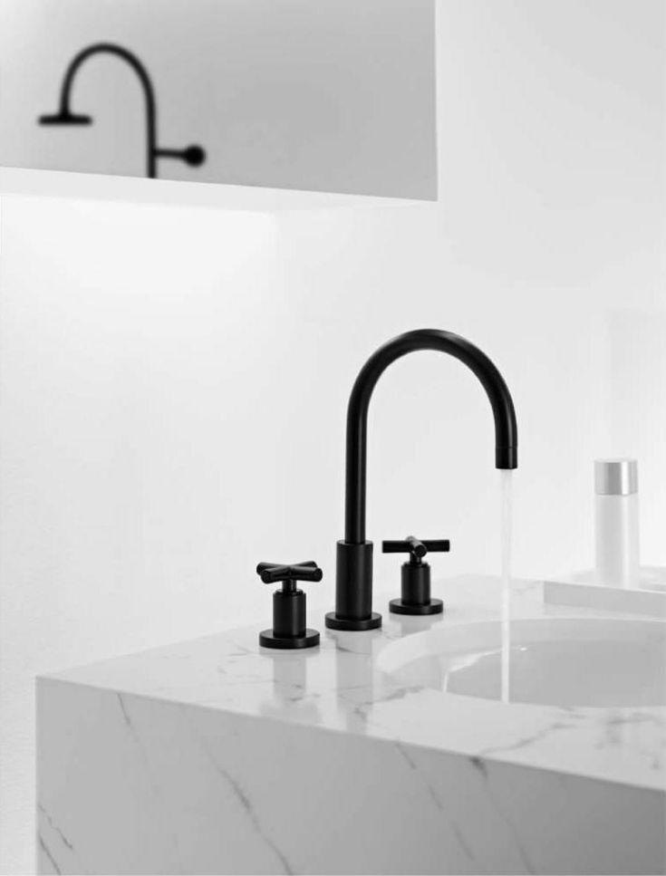 Robinet design pour la cuisine et la salle de bains noir et blanc- 9 idées!
