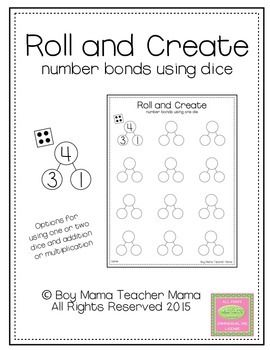 Boy Mama Teacher Mama | FREE Roll and Create Number Bonds