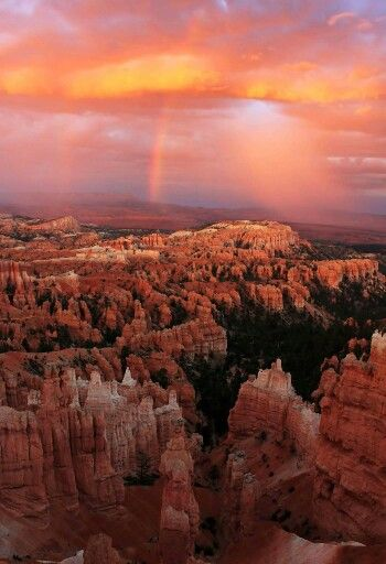 Double rainbow over Bryce Canyon, Utah Photl by: Greg Sager