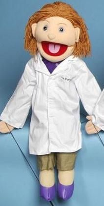 "28"" Female Doctor Puppet"