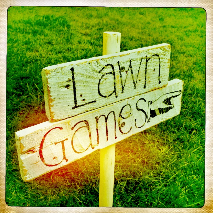 Lawn games sign... to hire from www.somethingoldsomethingnew.org.uk