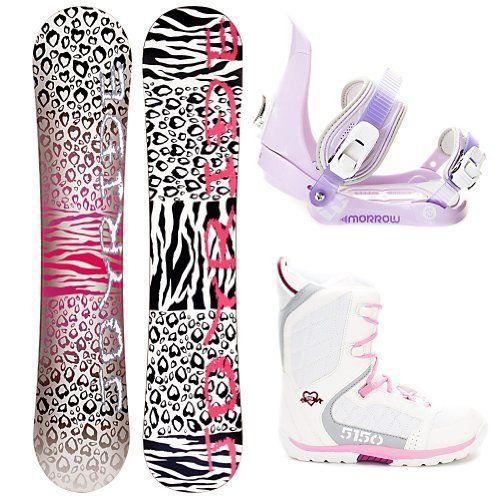 Joyride Cheetah White Snowboard Package ...
