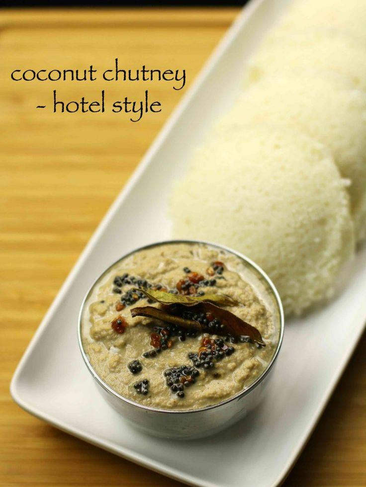 hotel style coconut chutney recipe for dosa and idli ...