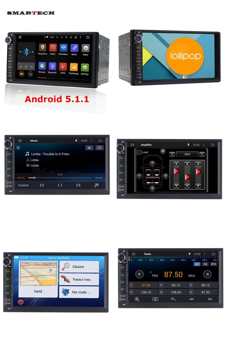 [Visit to Buy] SMARTECH 2 Din car stereo radio GPS navigation Universal 7 inch 1024*600 HD screen Quad Core car head unit without DVD player  #Advertisement