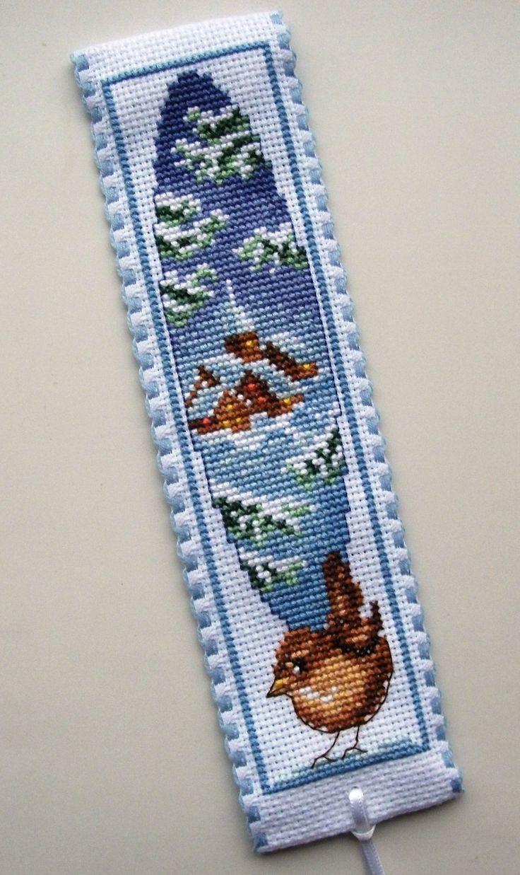 Cross Stitch *♥* Vervaco Winter Village & Wren bookmark.