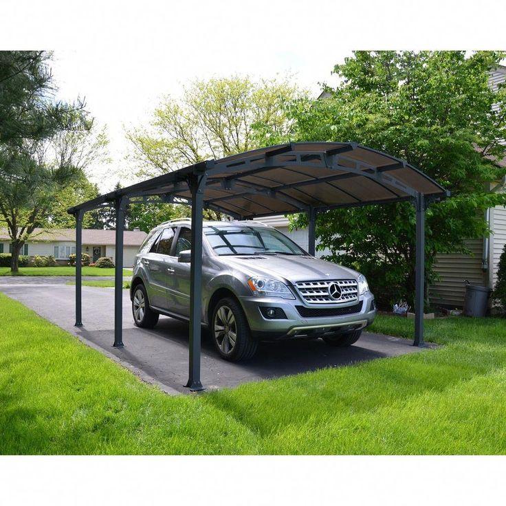 Palram Arcadia 5000 Carport Car Canopy and Shelter , Gray