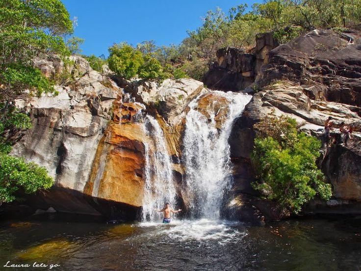 Laura lets go: Mareeba, QLD, Australia. Emerald Creek Falls.