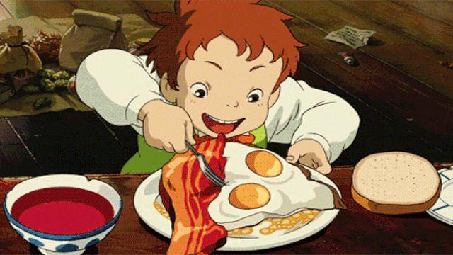 Chẳng phải vô tình mà những bộ phim của Hayao Miyazaki thường có nhiều phân cảnh khiến người xem phải… chảy nước miếng cho dù đang là giữa đêm khuya đi nữa.