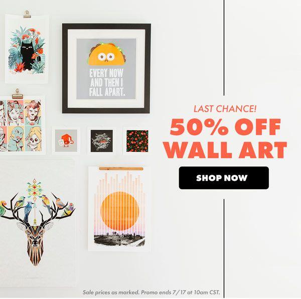50% Off Wall Art