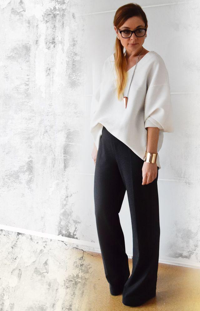 Clean Chic - Wie kombiniere ich ein weite Hose - Outfit