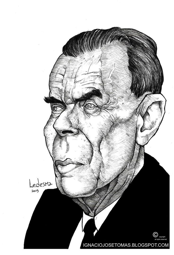 Aldous Huxley, tinta sobre papel,2015.