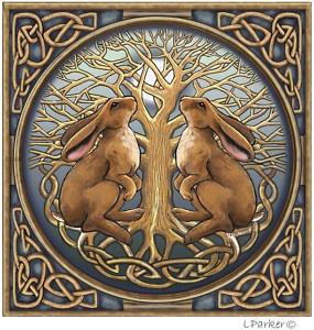 Moongazing hares