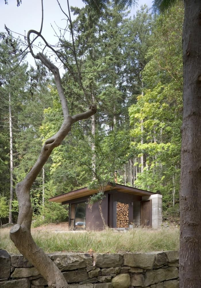 214 best houses non integrated in nature images on pinterest contemporary homes homes and - Houses woods nature integrated ...