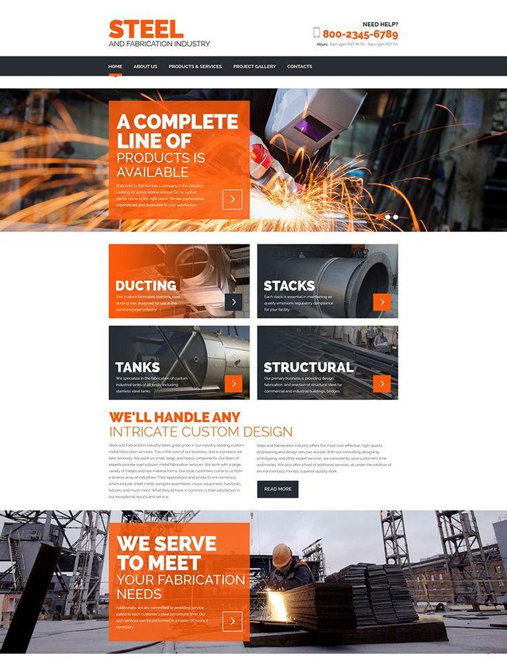 Free u0026 premium responsive html industrial website