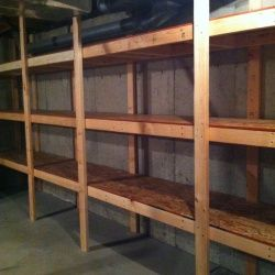 This is what @Holly Elkins Elkins Rivers needs!!!! DIY Basement Storage Shelves | Looksi Square