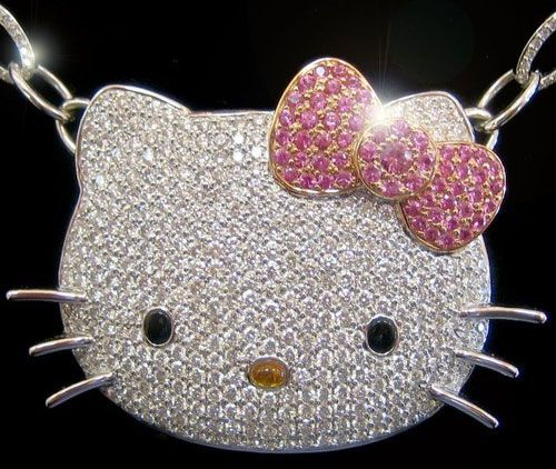 Hello Kitty in pave.