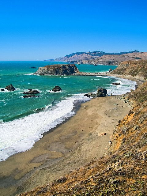 Blind Beach and Goat Rock in Sonoma Coast State Park, Jenner, CA -- to check out next time.  Supposedly great place to watch the sunset  Great place to beat the heat in-land in the summer