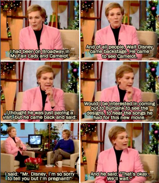 Julie Andrews on how she got the part in Mary Poppins