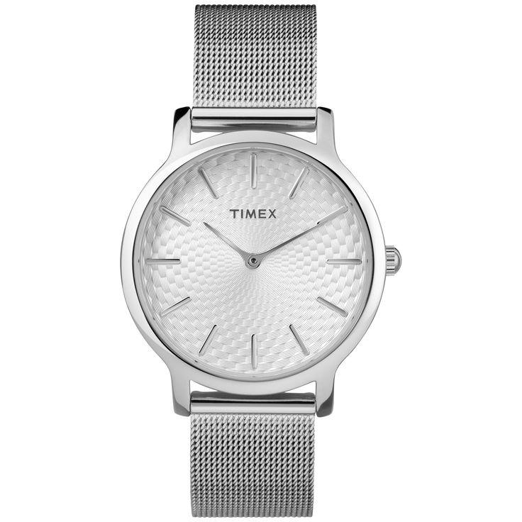 Timex Women's TW2R36200 Metropolitan Skyline -Tone Stainless Steel Mesh Bracelet Watch