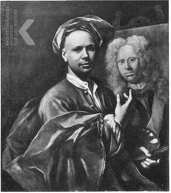 Jan Maurits Quinkhard Self portrait, 1726
