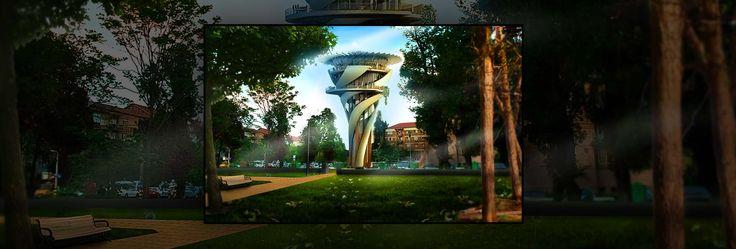 Water Tower Reconversion - Architecture Portfolio | Archviz