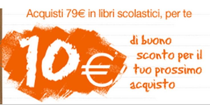 Da Mondadori puoi risparmiare sui libri scolastici: ottieni subito un buono sconto da 10 Euro da utilizzare per i tuoi prossimi acquisti fino a Ottobre 2014.