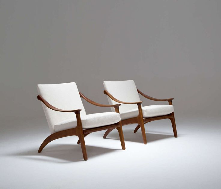 Pair of Arne Hovmand-Olsen Easy Chairs