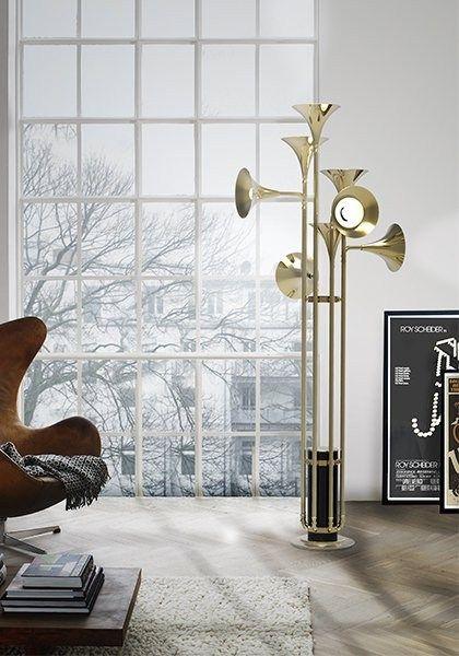 Brass floor #lamp BOTTI by Delightfull @Elena Cabatu Unique Lamps