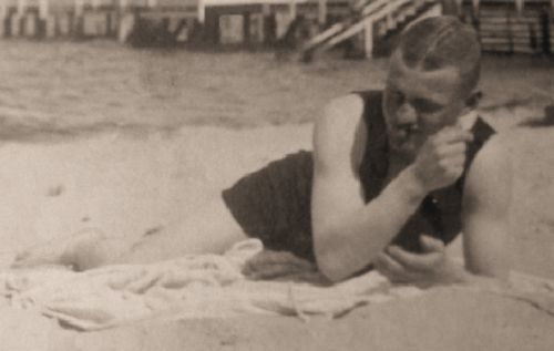 Manfred von Richthofen at the beach. I wrote a paper on the Red Baron but I didn't know this is what he looked like.