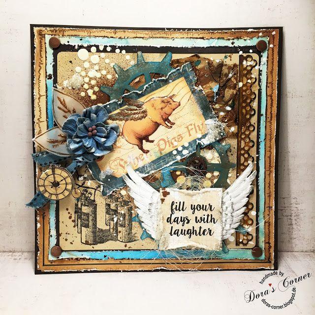 handmade card scrapbooking mixed media