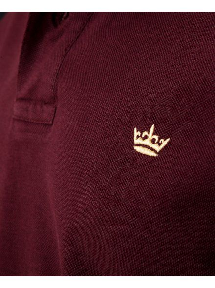 Twisted Soul Mens Burgundy Long Sleeve Polo Shirt