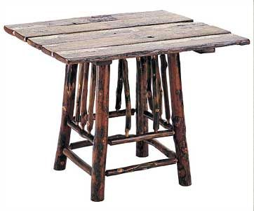 Hickory Furniture Designs   580   Barnwood Game Table