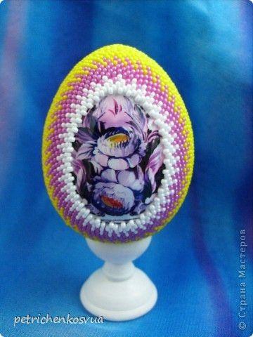 Яйцо оплетенное бисером мастер класс пошагово #9