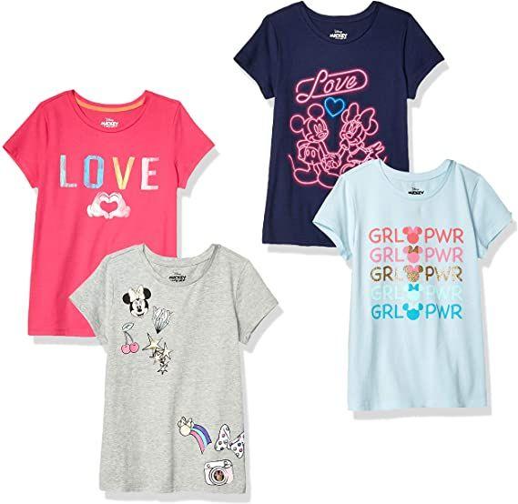 Spotted Zebra Girls Disney Star Wars Marvel Frozen Princess Long-Sleeve T-Shirts