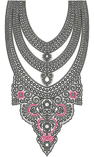 Salwar Kameez Embroidery Neck Design