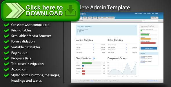 [ThemeForest]Free nulled download XtremeAdmin - Complete Admin Template from http://zippyfile.download/f.php?id=36641 Tags: accordion, admin panel, administration, clean, css3, css3 buttons, datatable, html5, jquery, jquery slider, jquery validation, pagination, pricing table, web 2.0, widgets