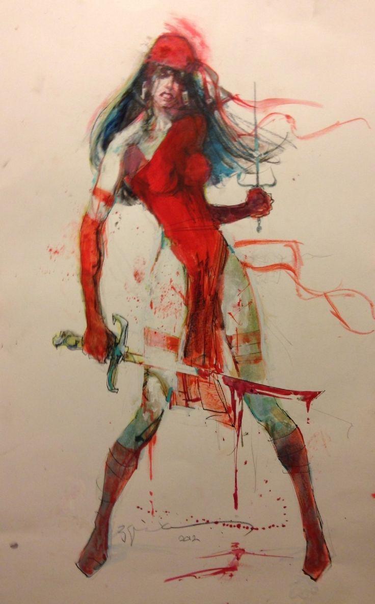 mens glasses Elektra by BIll Sienkiewicz