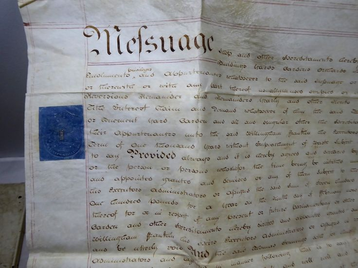 Antique 1802 Leather Legal Vellum Parchment Deed Franklin and Jennings Spilsby Lincolnshire - The Collectors Bag