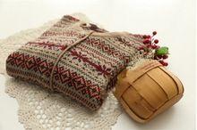 25.16. Gótico patrón del o-cuello de la rebeca vintage mori chica suéter(China (Mainland))