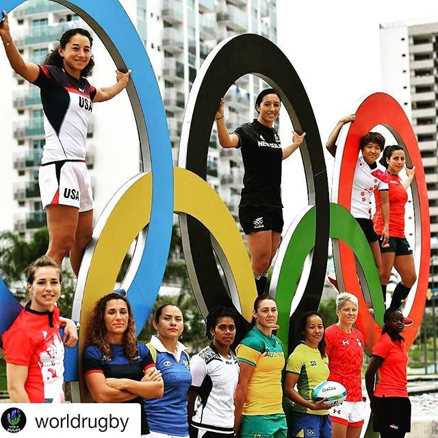 Olympic rugby 7s womens captains on the rings. Getting a bit over excited now…