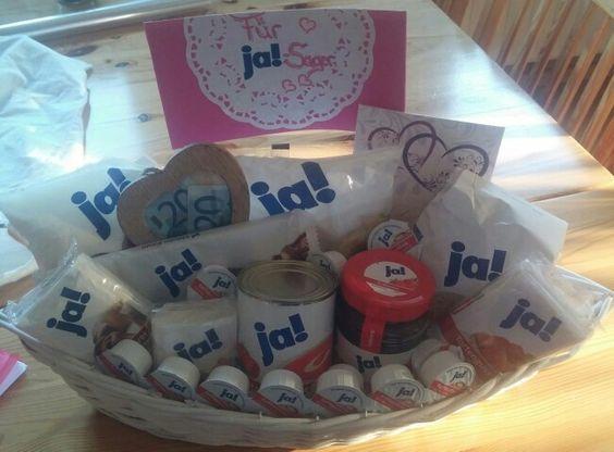 """Geschenk Hochzeit """"Für Ja-Sager"""":"""