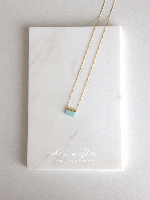 MINT & GOLD ネックレス 〜Lustrini〜 ネックレス・ペンダント ハンドメイド通販・販売のCreema