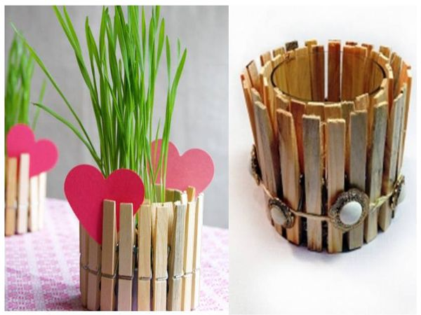 Clothespin flower pot you can do it yourself find fun for West materials crafts