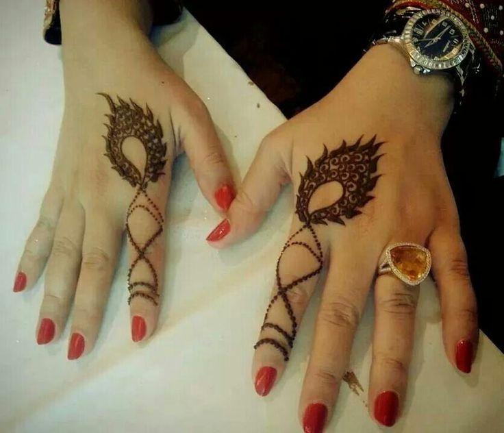 Simple Index Finger Henna