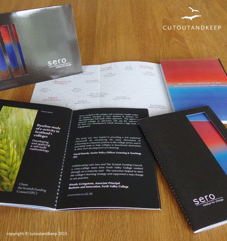 Sero; company 5 year Anniversary book.  copyright © cutoutandkeep 2015
