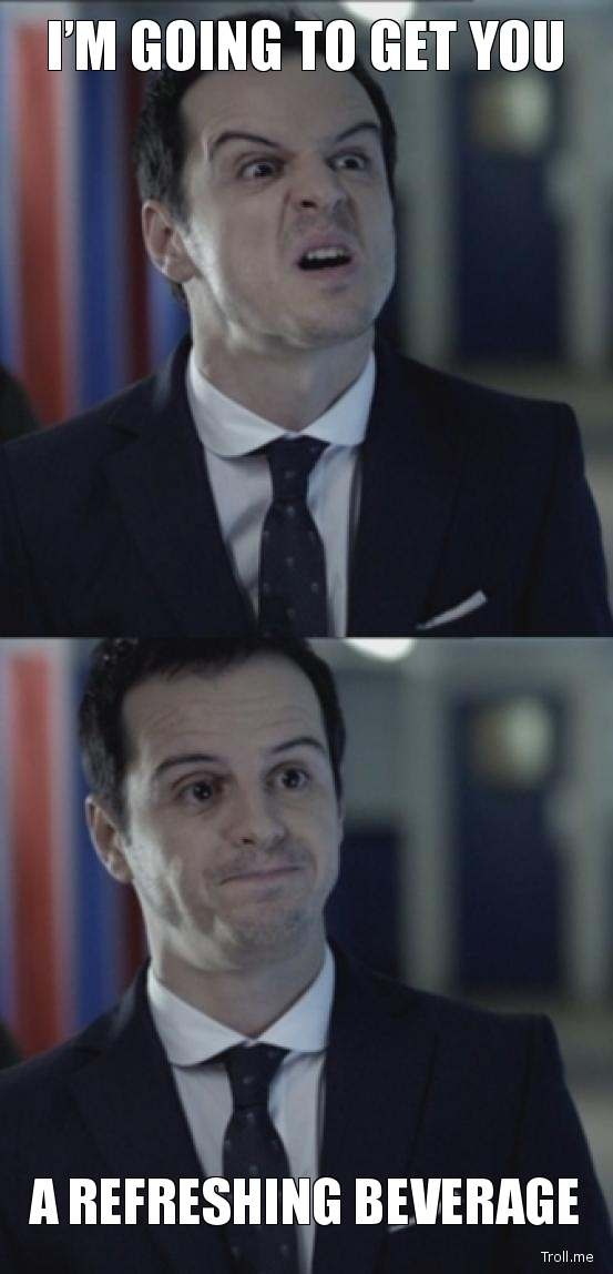 Misleading Moriarty. I swear he has the strangest voice I have ever heard.