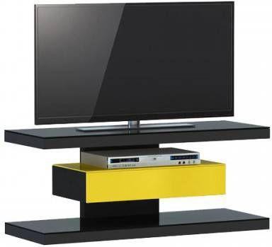 Jahnke Moebel SL 610 TV meubel Zwart/Geel online kopen