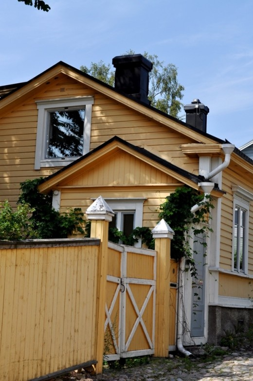 One of the wonderful old wooden houses in Porvoo, Finland