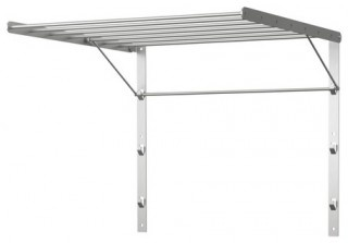 Matt is threatening to create a drying rack. I'd better go to IKEA to get this soon! I like the fact that it is compact and folds flat onto the wall when not in use.