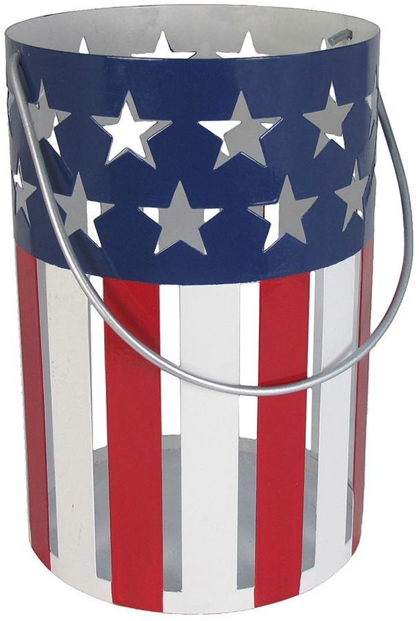 SONOMA Goods for LifeTM American Flag Hurricane Pillar Candle Holder